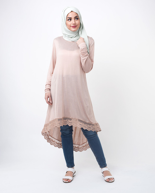 Modest Beige Top Tunic