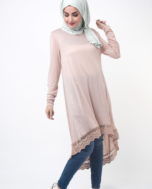 Dipped Hem Tunic Top