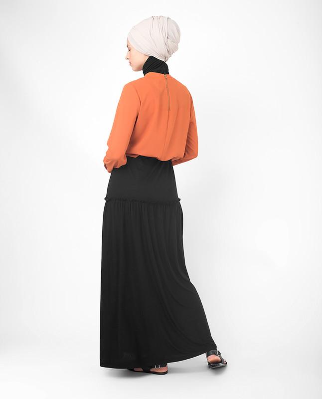 buy black flared skirt online