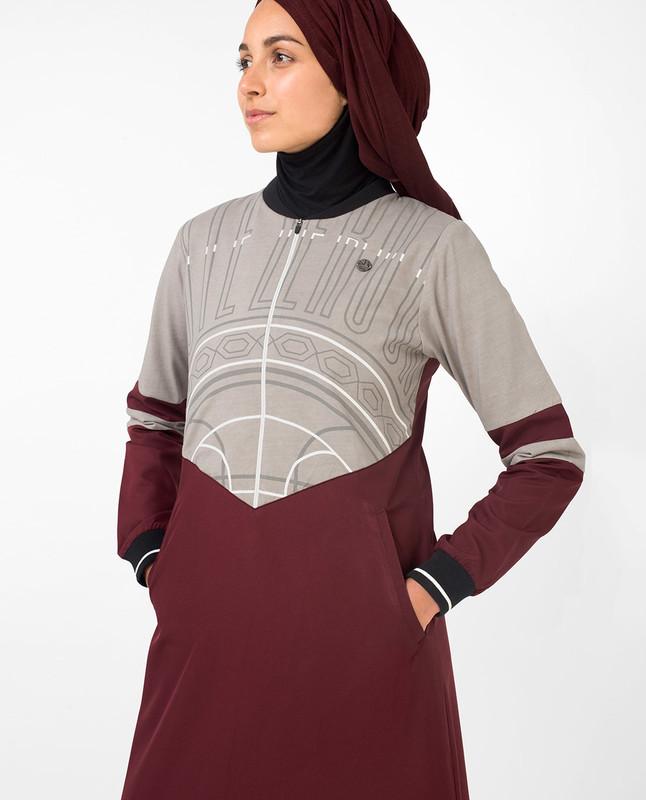 Red abaya jilbab
