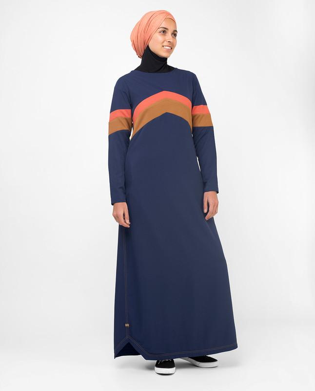 Blue fashionable abaya jilbab