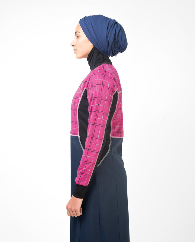 Rose Checked Print Jilbab