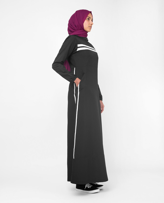 Buy black sporty abaya jilbab