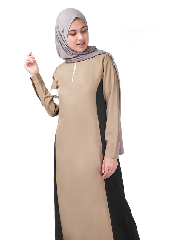 Black & Beige Arm Band Jilbab