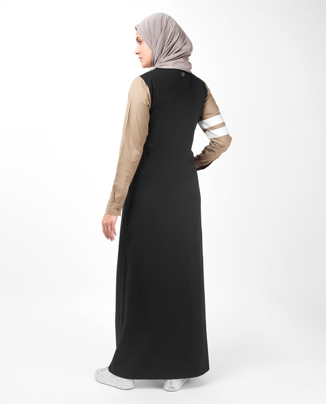 Black and brown abaya jilbab