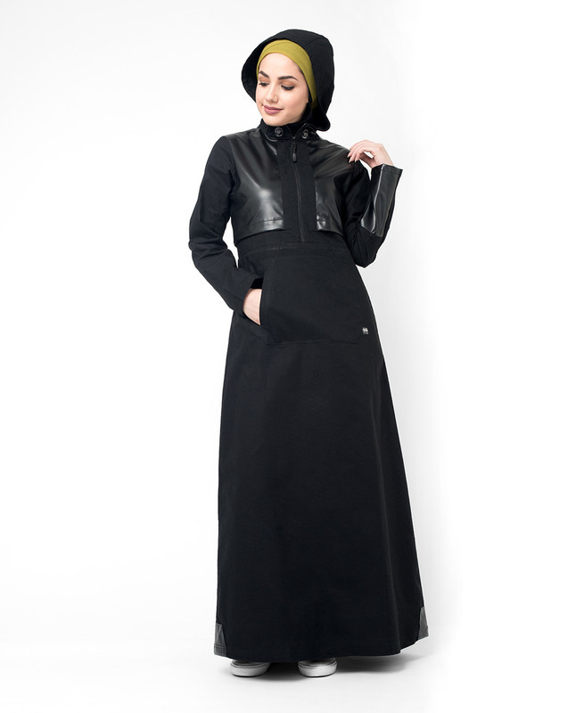 Buy Black hooded abaya jilbab