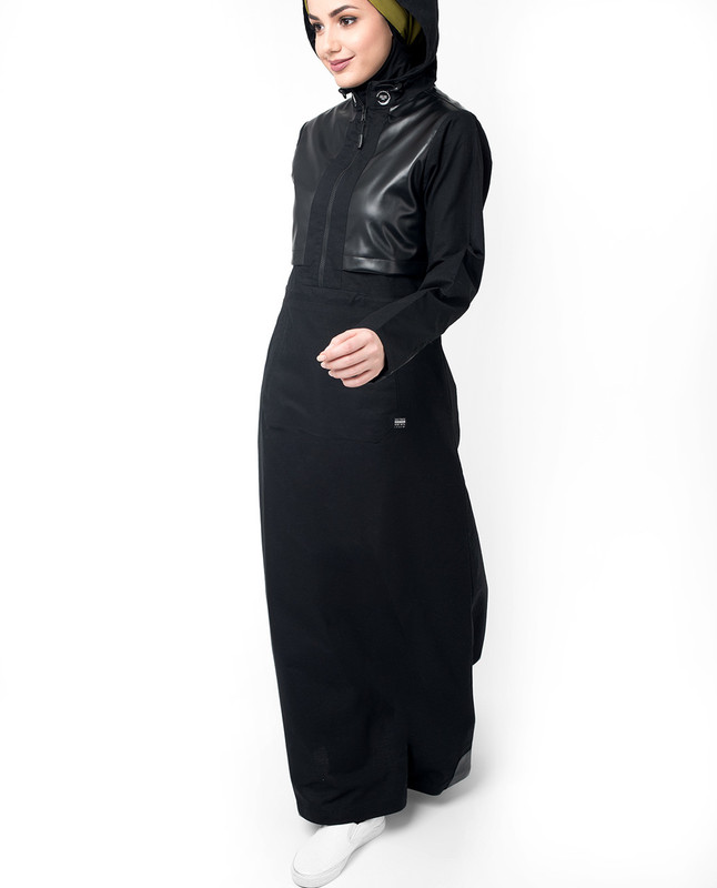 Black evening wear abaya jilbab