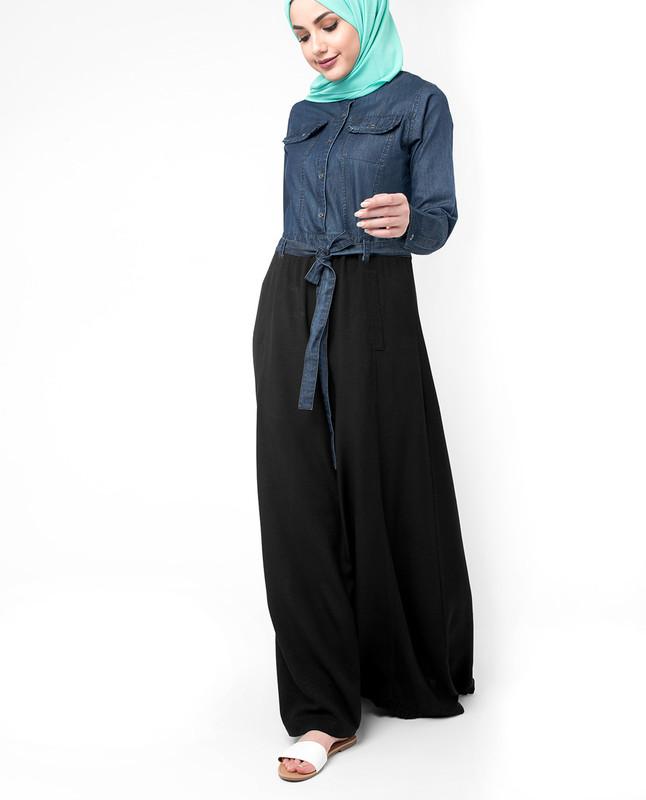 Skirt type abaya jilbab