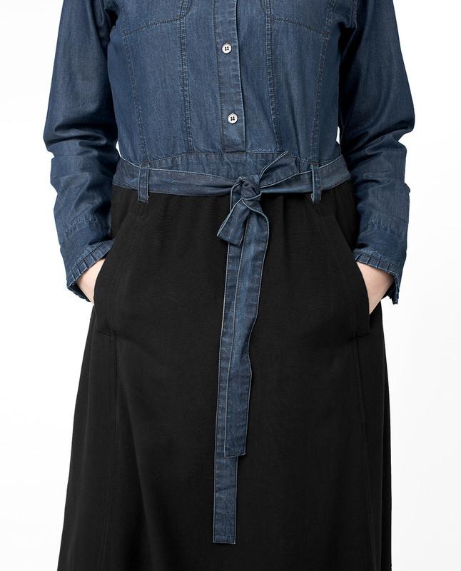 Belt at waist abaya jilbab