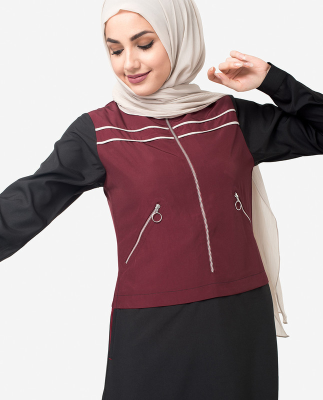 Buy front zipper abaya jilbab