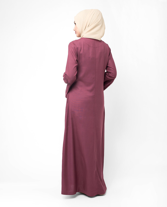 Flared sleeve abaya jilbab