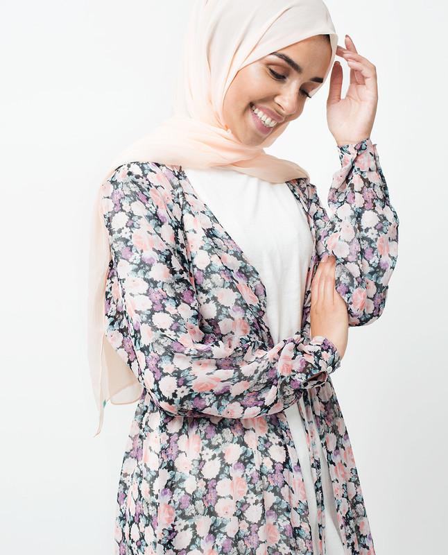 Floral Summer Chiffon Outerwear