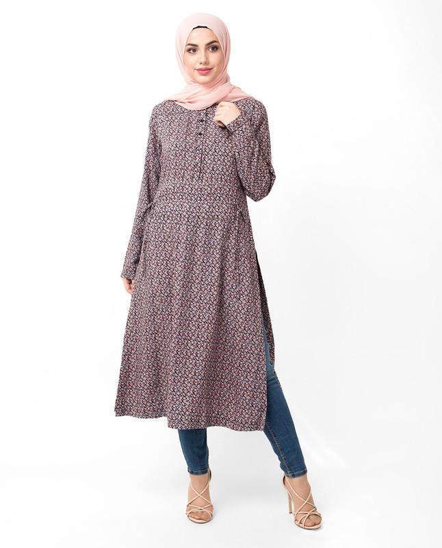 buy printed long midi dress