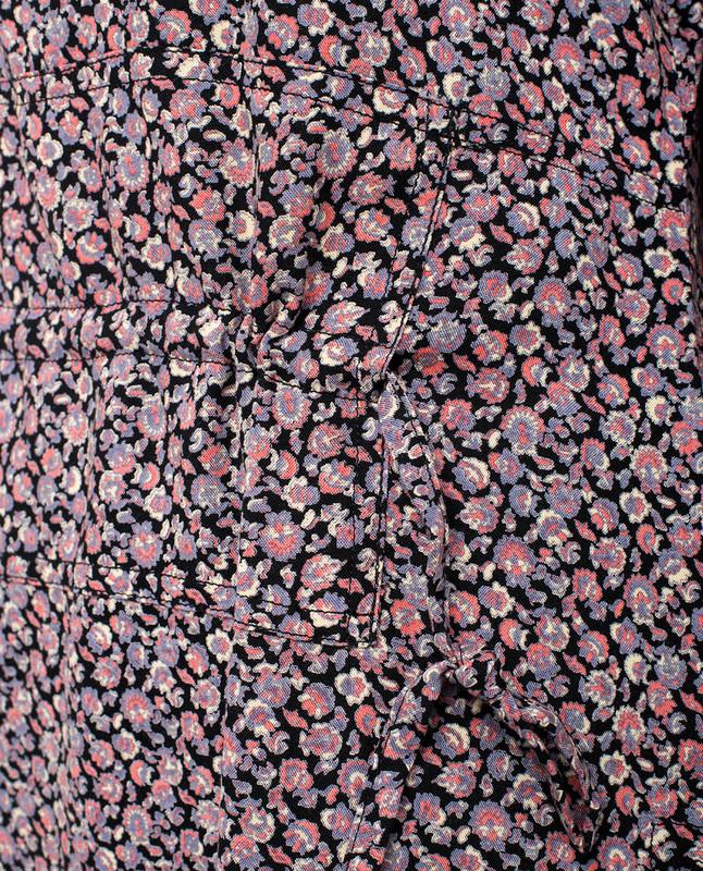 Floral Printed Long Side Slit Midi