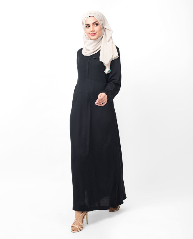 buy sporty black abaya jilbab