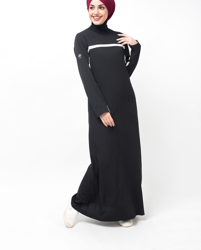 Black and White Summer Jilbab