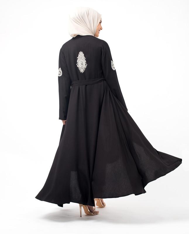 Hand Embroidery Black Kimono