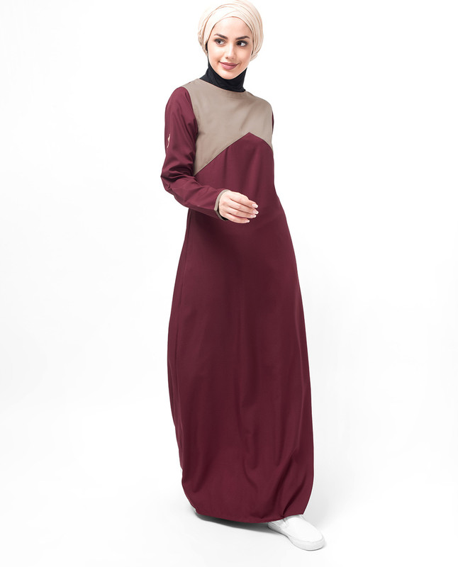Maroon Casual Route Abaya