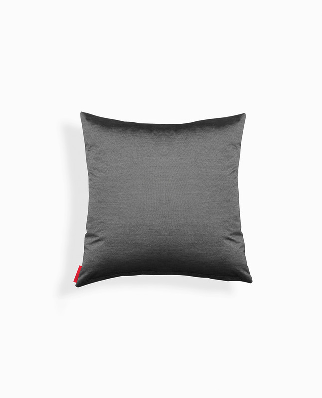 'Light' Arabic Calligraphy Cushion Cover - Charcoal / Silver