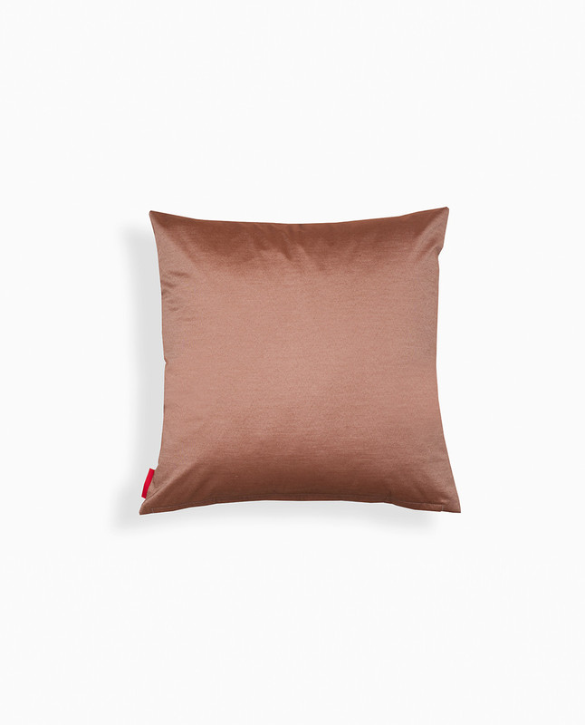 Lantern Embroidery Cushion Cover - Mocha / Charcoal