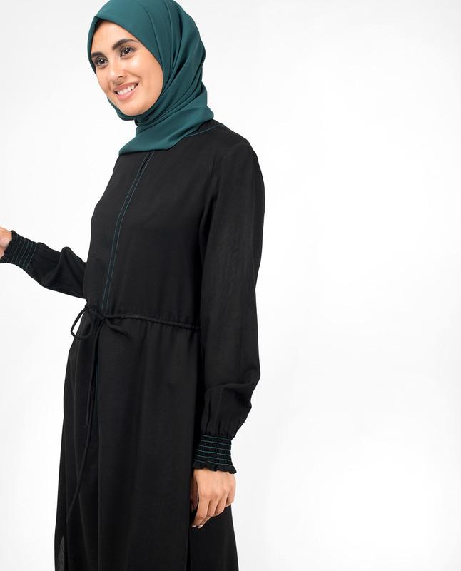 Black Handkerchief Midi Dress