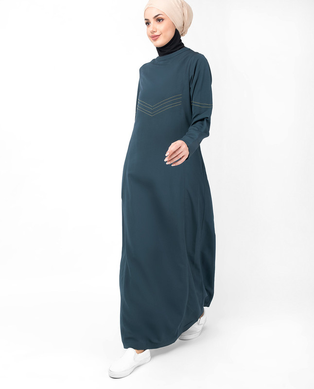 Blue Steel Top Stitch Jilbab