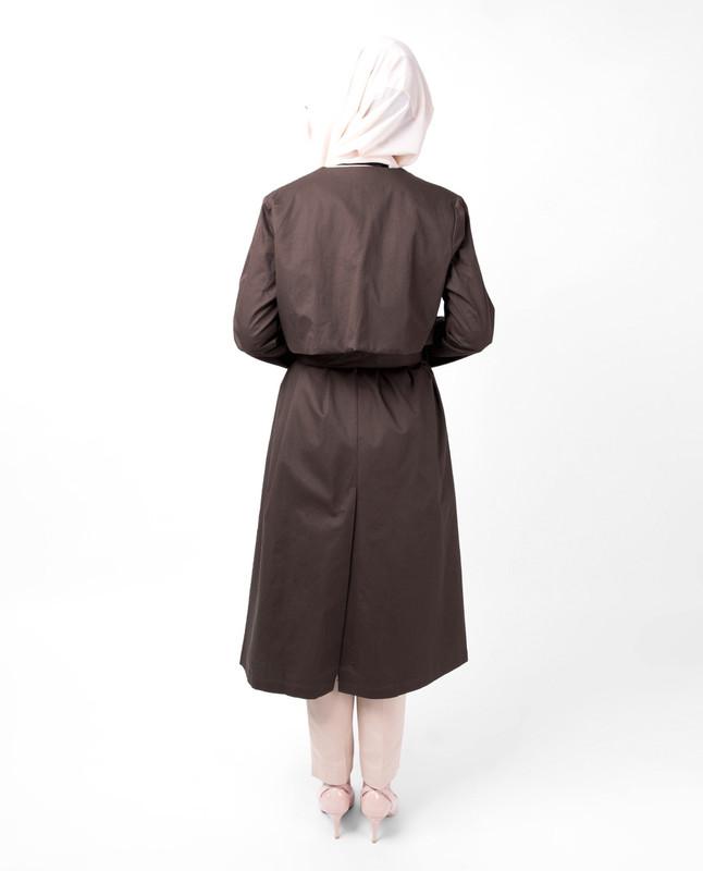 Coffee Wrap Trench Coat