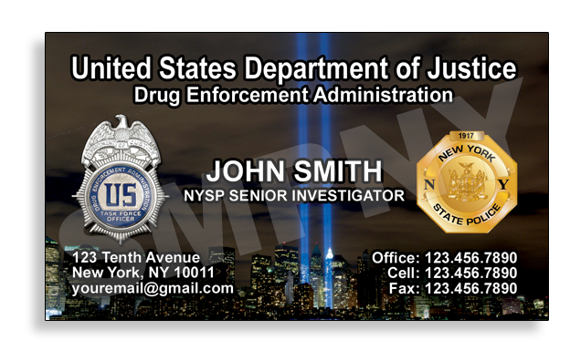 United States Department of Justice Card maker Company NYC