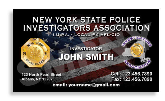 New York State Police Bureau of Criminal Investigators JOHN SMITH Card Printing Company
