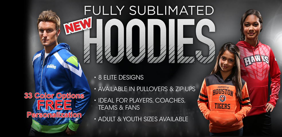 Fully Sublimated Hoodies