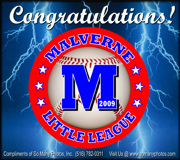 Malverne Little League Wine Label Printing images long island and New York