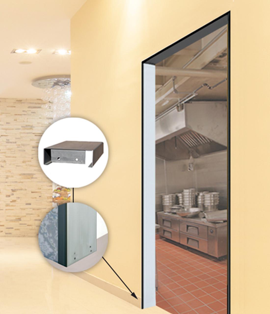 Galvanized Steel Hollow Metal Door Frames For Restaurants
