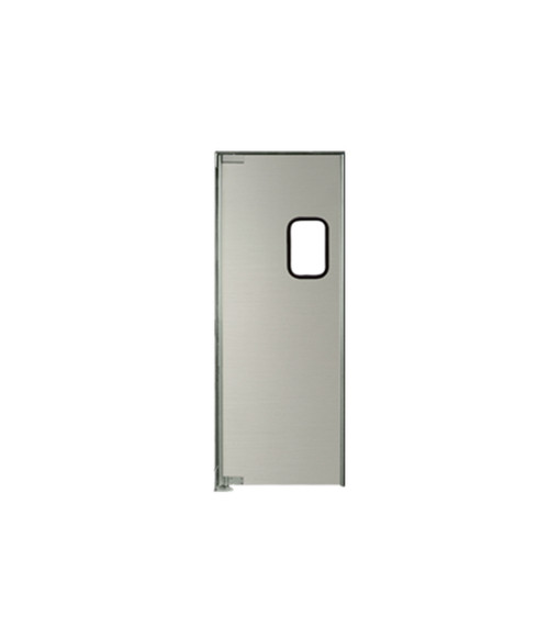 "Aluminum Swinging Door: Single Panel, Left Side Hinge, 36"" x 84"""