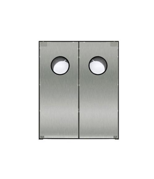 "Stainless Wood Core Door: Double Panel, 48""x 84"""