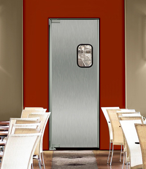 Sleek Stainless Steel Swinging Doors For Commercial Kitchens