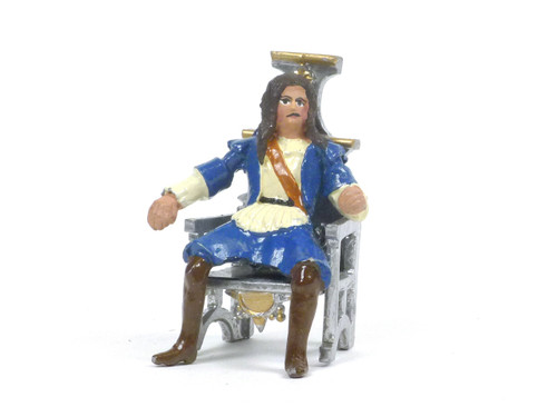 Hornung Art Historical Figure Charles II Seated On Throne