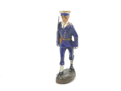 Elastolin Naval Officer Marching German Composition Toy Soldier