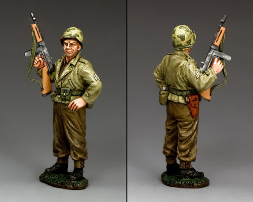 King & Country DD273 The Sarge with Tommy Gun American D-Day
