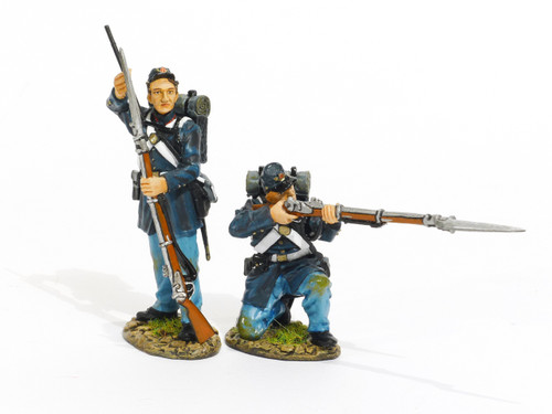 John Jenkins Designs Toy Soldiers American Civil War United States Marines, 2 Marines Loading and Firing #2 ACWM-04