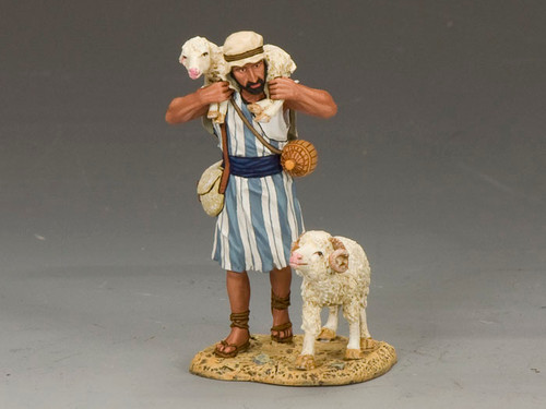 King & Country LOJ010 The Lost Lamb Carrying an Injured Sheep