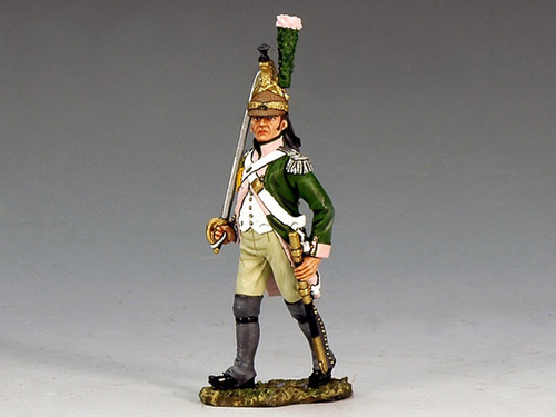 King & Country NA172 16th Dragoons Marching Officer with Sword Age of Napoleon