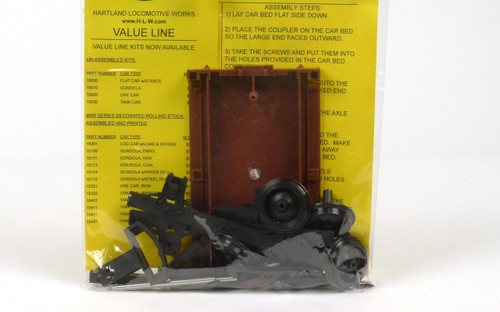Hartland Locomotive Works 15000 Make & Take Flat Car Kit G Scale