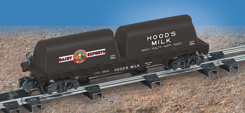 American Flyer Lionel  6-48538 Hoods Flatcar with Milk Containers