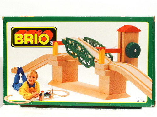 Brio Toys 33357 Wooden Railway Lifting Bridge Accessory Drawbridge