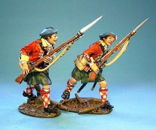 John Jenkins Designs Soldiers TIC-03 Ticonderoga Line Infantry Advancing 1/30