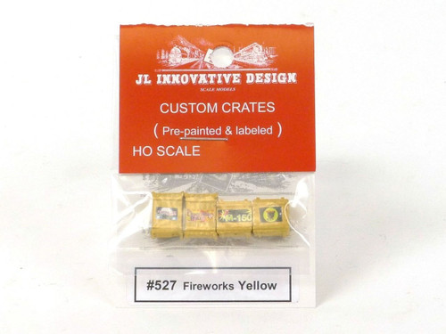 JL Innovative Design 527 Fireworks Yellow Custom Crates HO Scale Trains Scenery