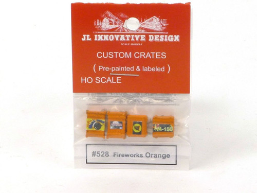 JL Innovative Design 528 Fireworks Orange Custom Crates HO Scale Trains Scenery