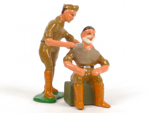 Holt's Hobbies H-23 Barber in Overseas Cap Shaving Doughboy