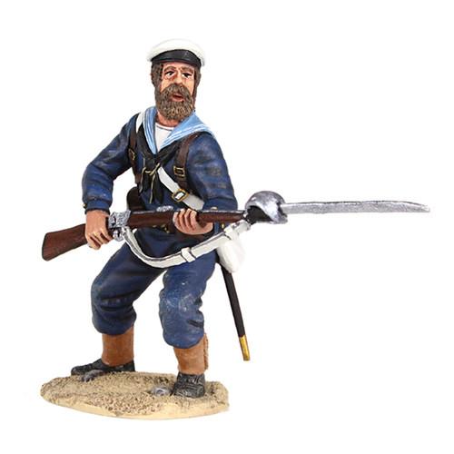 W Britain 27061 War Along the Nile British Naval Brigade Sailor Standing Defending with Bayonet