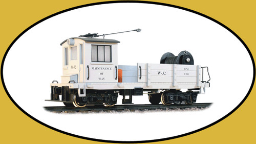 Hartland Locomotive Works 09803 Line Car, Maintenance of Way, Gray